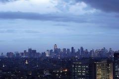 Paesaggio urbano della città di Jakarta da aria Immagini Stock