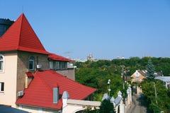 paesaggio urbano della città di Kiev Fotografie Stock