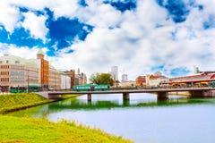Paesaggio urbano della città di Malmo, Svezia fotografie stock libere da diritti