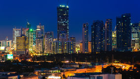 Paesaggio urbano della città di Manila, Filippine Immagini Stock Libere da Diritti