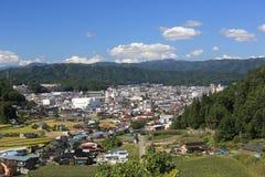 Paesaggio urbano della città di Takayama Fotografia Stock