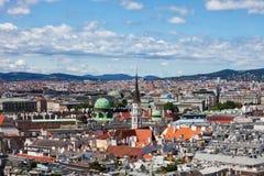Paesaggio urbano della città di Vienna in Austria Fotografia Stock Libera da Diritti
