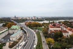 Paesaggio urbano della città della Polonia Varsavia Fotografia Stock Libera da Diritti