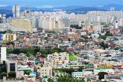 Paesaggio urbano della città della Corea Suwon Immagini Stock Libere da Diritti