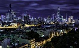 Paesaggio urbano della costruzione a Bangkok, Tailandia Immagini Stock Libere da Diritti
