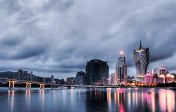 Paesaggio urbano della Macao immagini stock libere da diritti