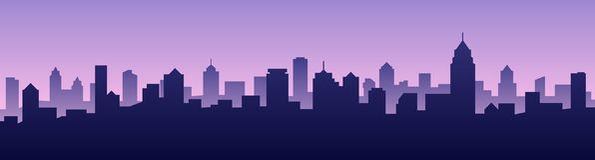 Paesaggio urbano della siluetta dell'orizzonte della città del fondo dell'illustrazione di vettore illustrazione vettoriale