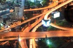 Paesaggio urbano della strada principale di Bangkok Fotografie Stock