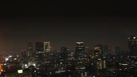 Paesaggio urbano della torre di Tokyo stock footage