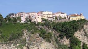 Paesaggio urbano di Agropoli video d archivio