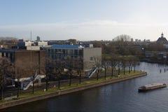 Paesaggio urbano di Amsterdam, Paesi Bassi Fotografia Stock
