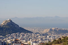 Paesaggio urbano di Atene Fotografia Stock