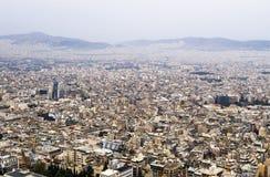 Paesaggio urbano di Atene Immagini Stock