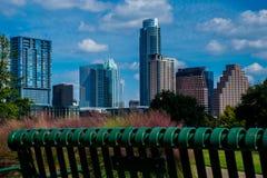 Paesaggio urbano di Austin il Texas dell'orizzonte Immagini Stock Libere da Diritti
