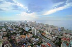 Paesaggio urbano di Avana. orizzonte degli edifici di Vedado Immagine Stock Libera da Diritti