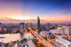 Paesaggio urbano di Bangkok Immagini Stock Libere da Diritti