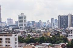 Paesaggio urbano di Bangkok, distretto aziendale con alta costruzione Immagini Stock Libere da Diritti