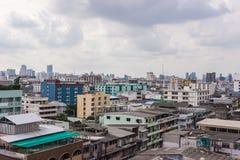 Paesaggio urbano di Bangkok, distretto aziendale con alta costruzione Fotografie Stock