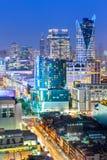 Paesaggio urbano di Bangkok, distretto aziendale con alta costruzione, Thailan Fotografie Stock