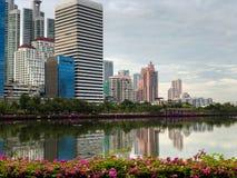 Paesaggio urbano di Bangkok di mattina fotografie stock
