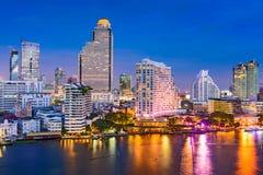 Paesaggio urbano di Bangkok, Tailandia Fotografia Stock