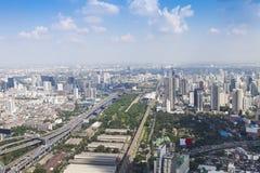 Paesaggio urbano di Bangkok Vista della città dalla costruzione più alta dentro Immagini Stock Libere da Diritti