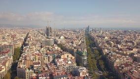 Paesaggio urbano di Barcellona stock footage