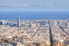 Paesaggio urbano di Barcellona Immagini Stock