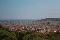 Paesaggio urbano di Barcellona durante il giorno di estate Immagini Stock Libere da Diritti