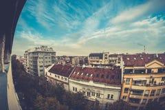 Paesaggio urbano di Belgrado, Serbia fotografie stock
