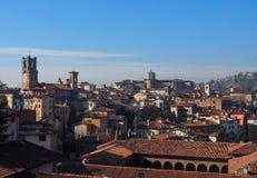 Paesaggio urbano di Bergamo Alta Immagini Stock