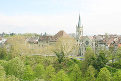 Paesaggio urbano di Berna, Svizzera. Fotografia Stock Libera da Diritti
