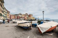 Paesaggio urbano di Boccadasse, Genova, Italia Fotografie Stock