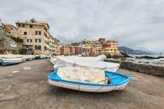Paesaggio urbano di Boccadasse, Genova, Italia Fotografia Stock