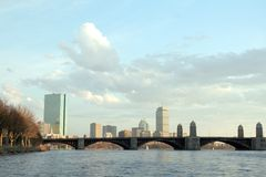 Paesaggio urbano di Boston Immagini Stock Libere da Diritti
