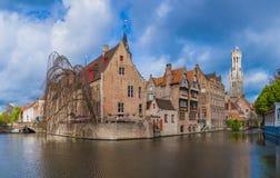 Paesaggio urbano di Bruges - Belgio Immagine Stock