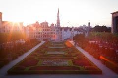 Paesaggio urbano di Bruxelles Fotografia Stock Libera da Diritti