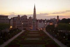 Paesaggio urbano di Bruxelles Fotografie Stock Libere da Diritti