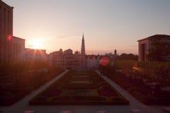 Paesaggio urbano di Bruxelles Immagini Stock Libere da Diritti