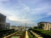 Paesaggio urbano di Bruxelles, capitale del Belgio Fotografie Stock Libere da Diritti