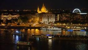 Paesaggio urbano di Budapest stock footage