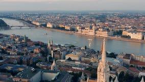 Paesaggio urbano di Budapest video d archivio