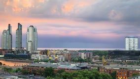 Paesaggio urbano di Buenos Aires Fotografia Stock Libera da Diritti