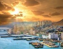 Paesaggio urbano di Busan Fotografia Stock Libera da Diritti