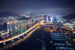Paesaggio urbano di Busan Fotografia Stock