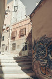 Paesaggio urbano di Cagliari Fotografie Stock Libere da Diritti