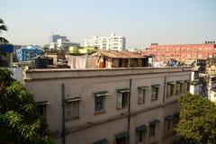 Paesaggio urbano di Calcutta dall'hotel sulla via del parco Fotografia Stock
