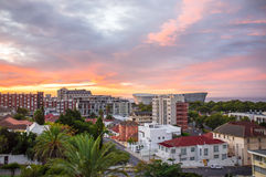 Paesaggio urbano di Cape Town Immagine Stock