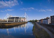 Paesaggio urbano di Cardiff fotografia stock