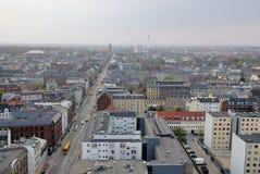Paesaggio urbano di Copenhaghen Fotografia Stock